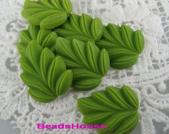 6pcs High Quality Leave Shape Cabochon,Grass