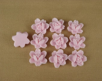 502-02-57-0 -CA  10 Pcs Pretty Mini Rose Cabochon-Orchid.