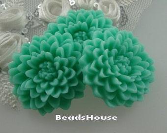 20% off: 639-00-CA  3pcs Chrysanthemum Large Flower Cabochon,Opal