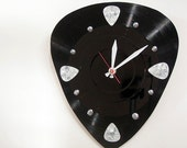 Guitar Clock Decor Music - Pick Wall Clock