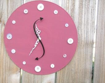 Pink Clock Buttons