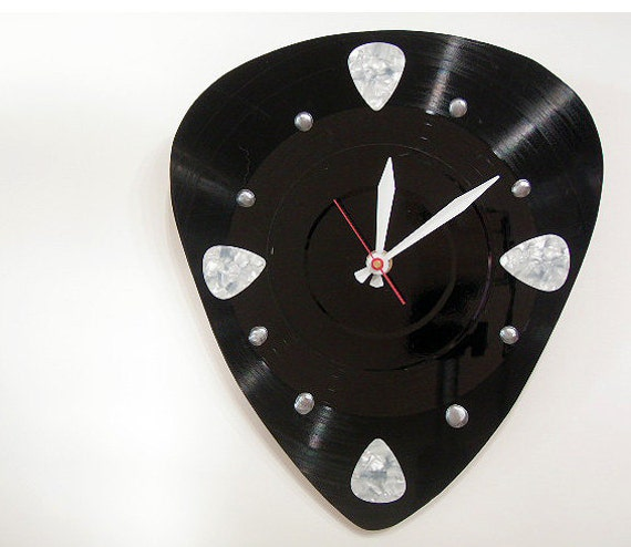 Music Clock Guitar Pick Pick your own Pick color