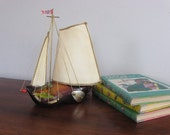 RESERVED for Susan-Vintage Dutch Clog Sailboat Nursery Night Light