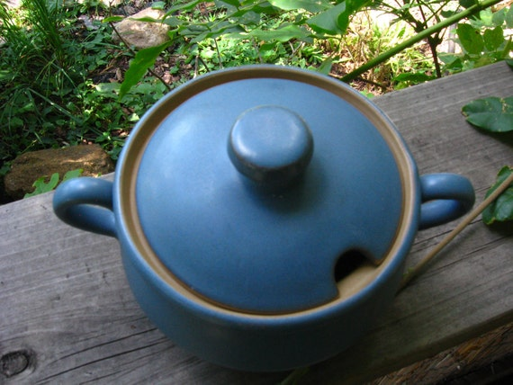 Vintage Denby Echo Lidded Sugar Bowl