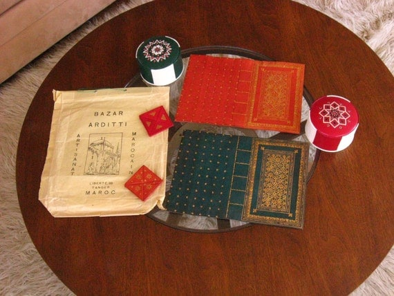 Moroccan Bazaar Leather Treasure Keepers and Book Covers Instant Collection