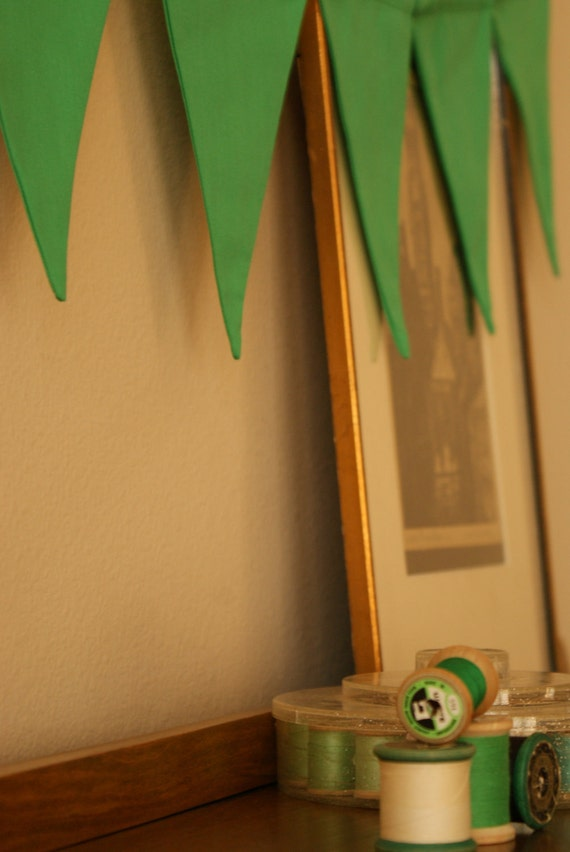Green, The Luck of The Color, Fabric Bunting, Flag, Banner By InYourBones