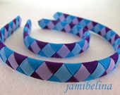 Dolly and Me Popular Purples and Blues Matching Woven Headbands
