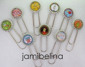 RESERVED for Julie Andersen -  Four (4) Seuss-Inspired Bottlecap Boomarks - presents, teacher's gifts, party favors random selection