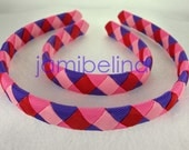 Dolly and Me Matching Woven Headbands in red, pink, hot pink and purple