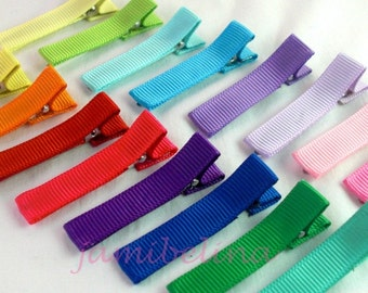 A Clip for Every Outfit - Set of SIXTEEN (16) Simple Hairclips in a Rainbow of Colors