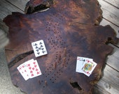 Two Player, Redwood Cribbage Board Table Top for Mandy Kitchen