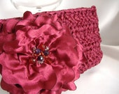 Michaela - Satin Ribbon Clutch with Beaded Flower - Handmade -  Weddings to Fun - Handmade - Made to Order