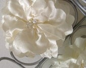 Champagne Colored Wedding Hair or Pin Flower - Handmade - Ready to ship