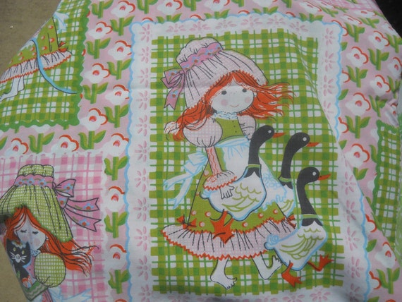 sale-Vintage Pillowcase, childrens print