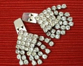 Vintage 1950s Shoe Clips Rhinestone Decorative Clips