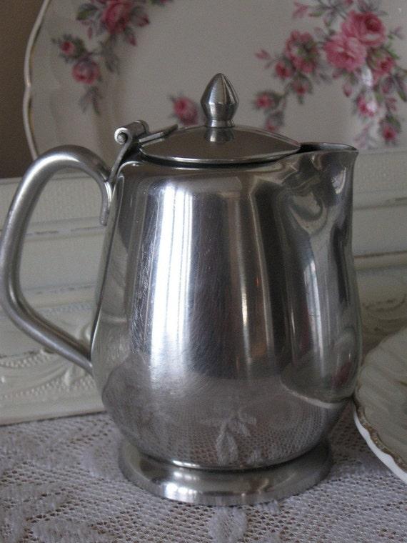 vintage stainless steel milk jug made in japan. Black Bedroom Furniture Sets. Home Design Ideas