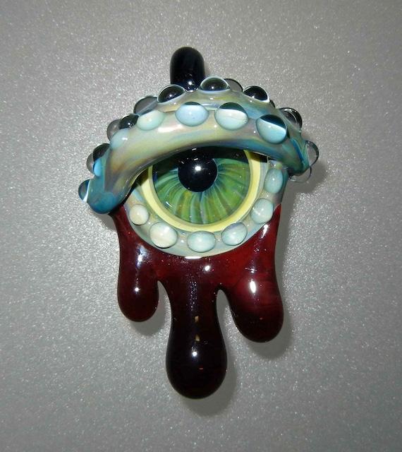 Glass Zombie Evil Eye Pendant