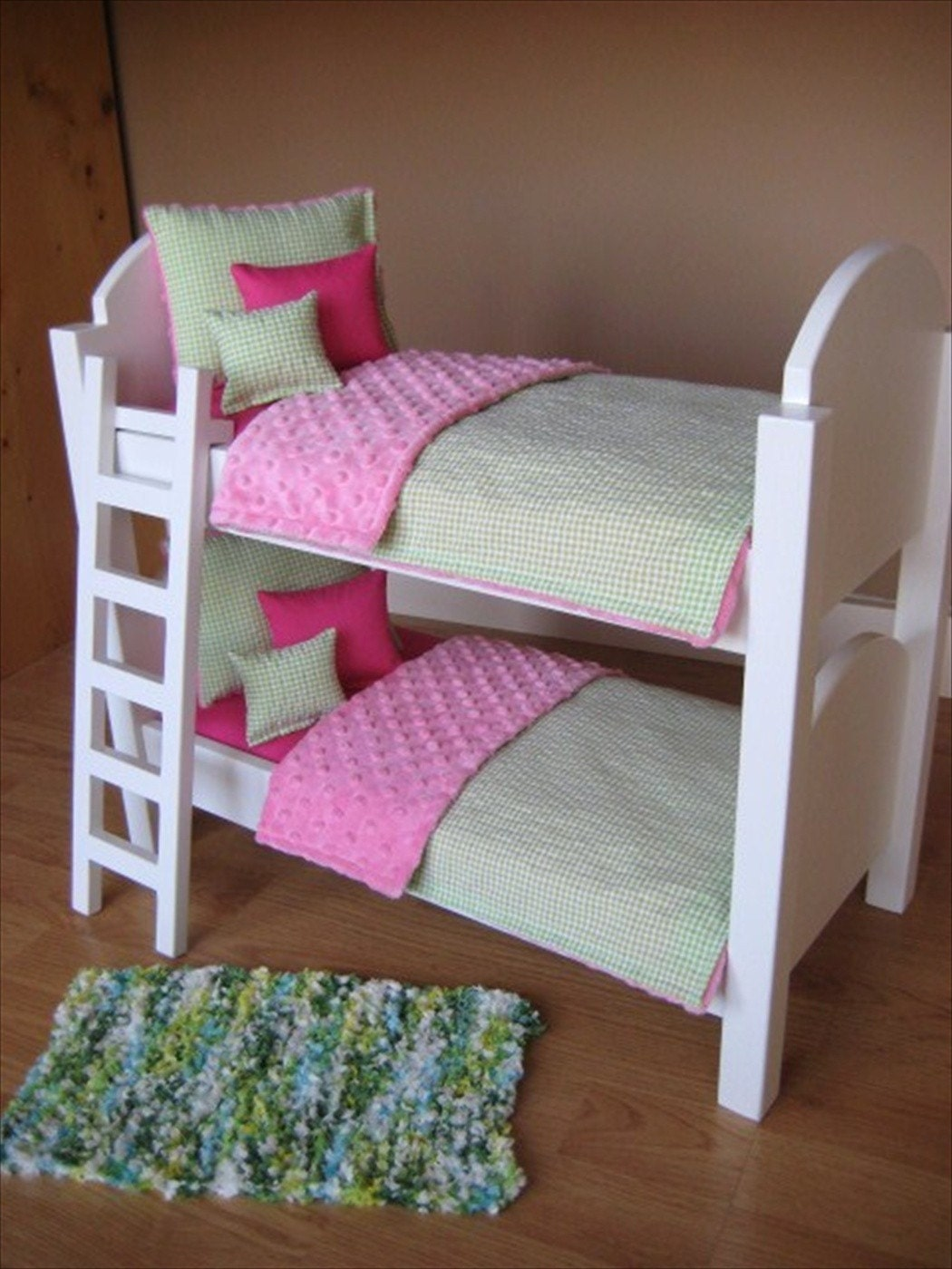 american girl doll bunk bed with ladder and 10 piece bedding. Black Bedroom Furniture Sets. Home Design Ideas