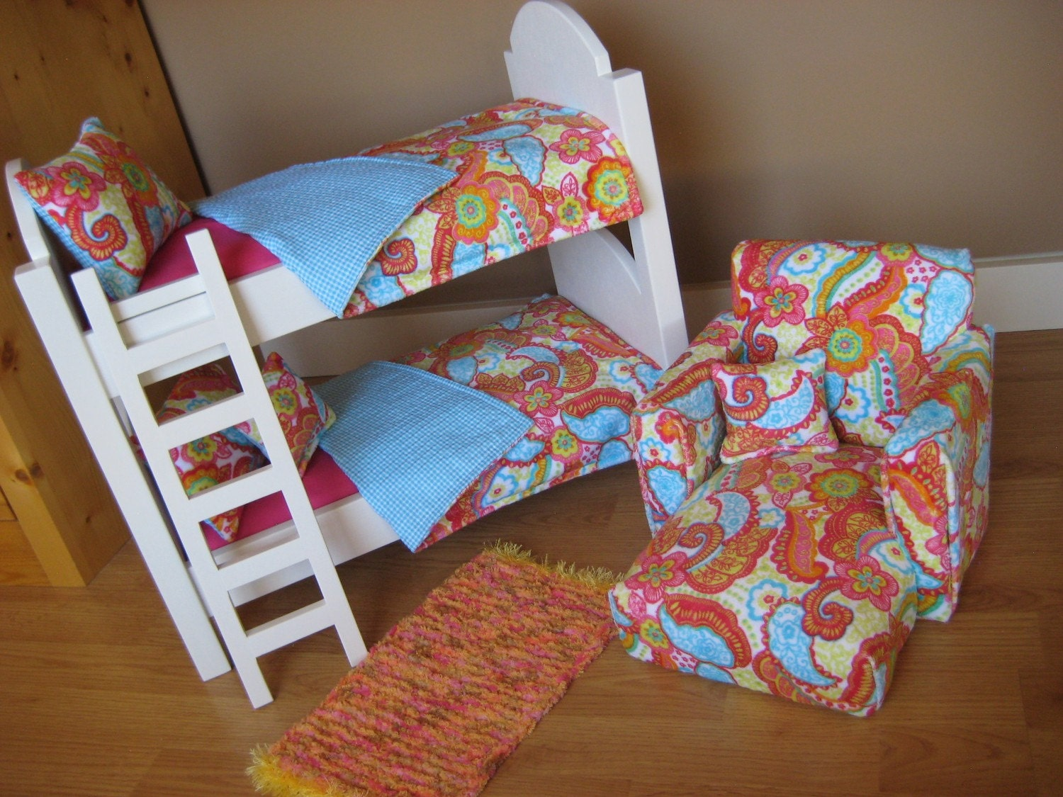 Doll Bedroom Set For American Girl Dolls And All 18 Inch Dolls