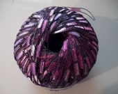 Last Ones Ladder Ribbon Yarn by Ice Yarns Color Carmin Purple and Pink