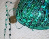 Reserved for Bonnie Lagoon, Totally Teal, and Mini Turquoise Ladder Ribbon Yarn by ICE Yarns
