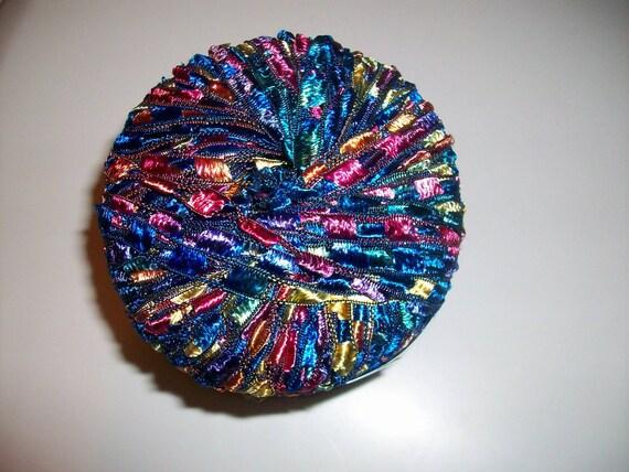 New Berlini Ladder Ribbon Maxi Yarn Color Malibu Jewel Tones