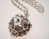 Lion Necklace Antique Silver Pendant Necklace