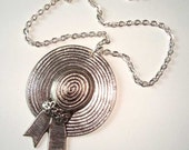Silver Cute Bonnet Hat Pendant Necklace