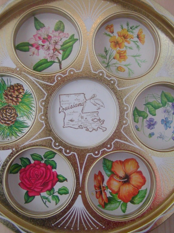 Vintage Louisiana Drink Serving Tray