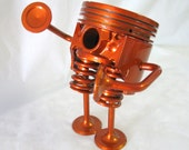 Mr. Tangerine Man - made with recycled engine parts