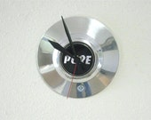 Hub Cap Clock / Upcycled / Man Cave / Garage Art / Home Decor / Automotive Decor / Repurposed
