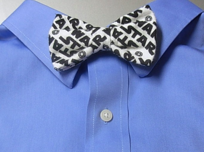 star wars clip on bow tie by apurplepumpkin on etsy