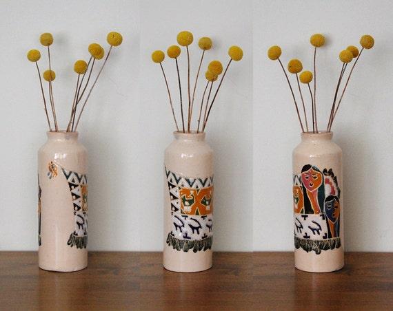 Glazed Ceramic Decorative Vase