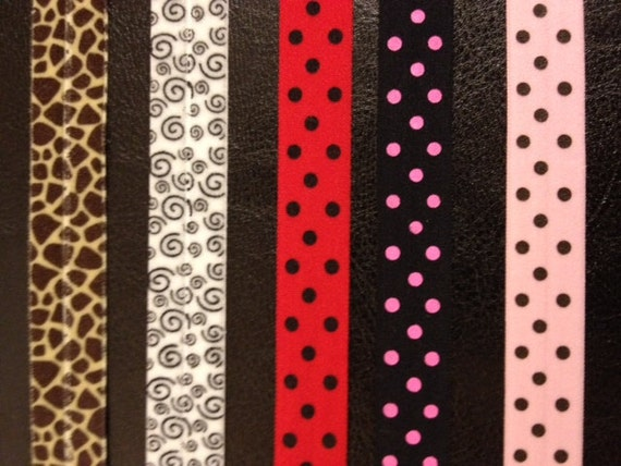 Printed Fold Over Elastic- 5 Prints to Choose From