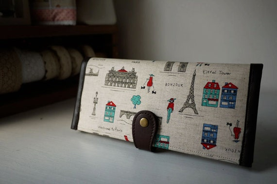 PREORDER . Welcome to Paris Long Wallet (inner blue)