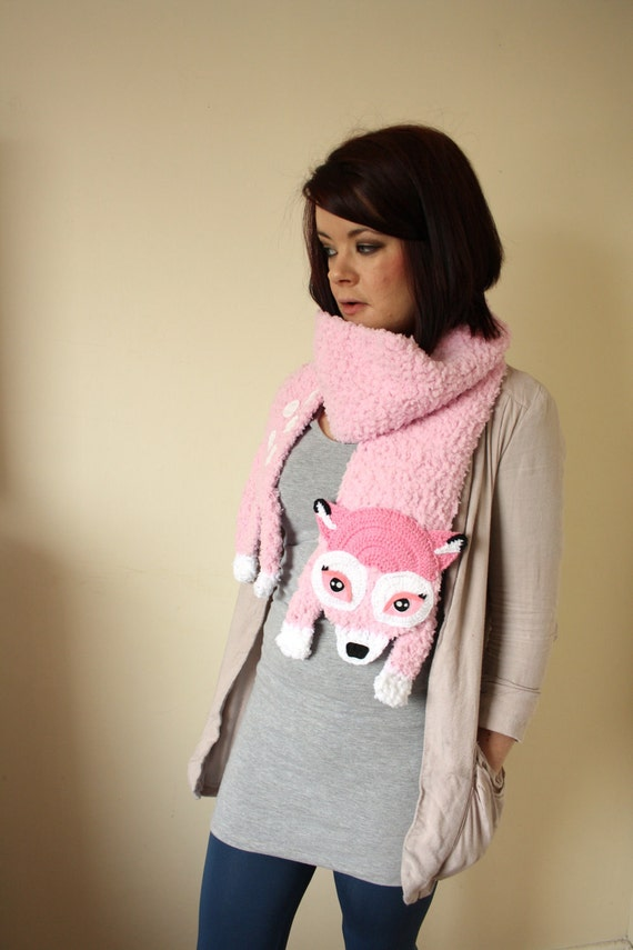 Sweet Pale Pink Fawn Scarf