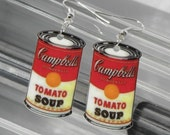 KITSCH Pop Art Campbell's Tomato Soup Earrings