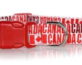 CANADA,,,,,,Custom Canadian Flag Dog Collar