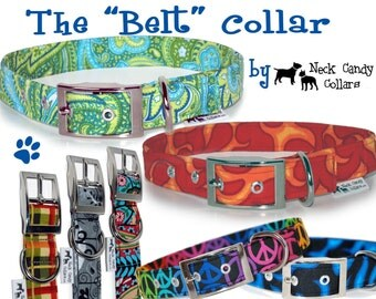 The Belt Style Collar customized in your choice of fabric