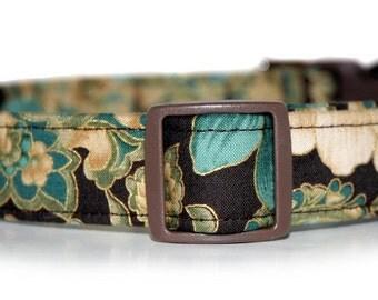 Victorian Teal,,  Custom Dog Collar