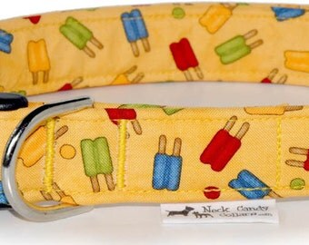 Summer popcicles,,,,,Custom Dog Collar