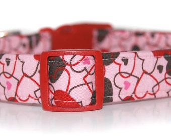 Chocolate Kisses Custom Dog Collar,  by Neck Candy Collars