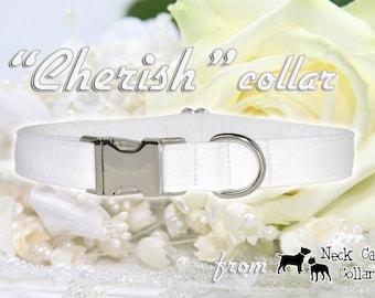 Cherish,,,,,Custom Wedding Dog Collar
