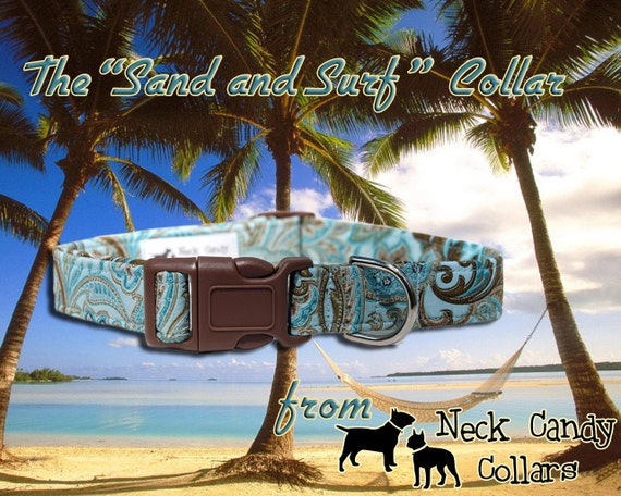 Sand and Surf,,,,Custom Dog Collar