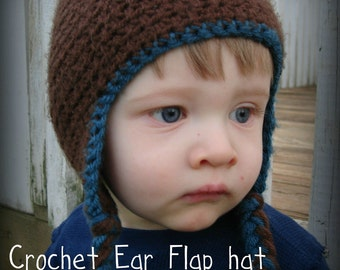 Infant/Child Crochet Earflap Hat