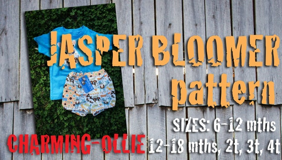 Charming-Ollie adjustable waist  JASPER BLOOMER shorts pdf pattern 6-12 12-18 2T 3T 4T bOy GiRL short 2 3 4 12 18