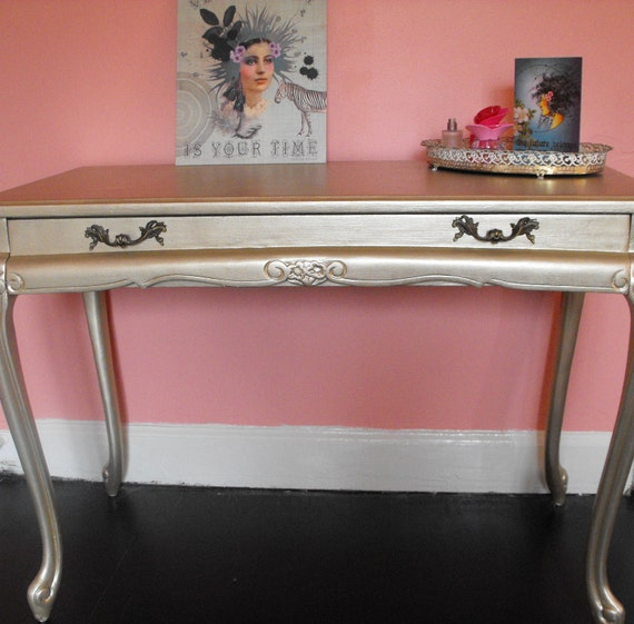 Reserved for Kristina Queen Ann antique vintage writing table desk vanity freshly painted refinished