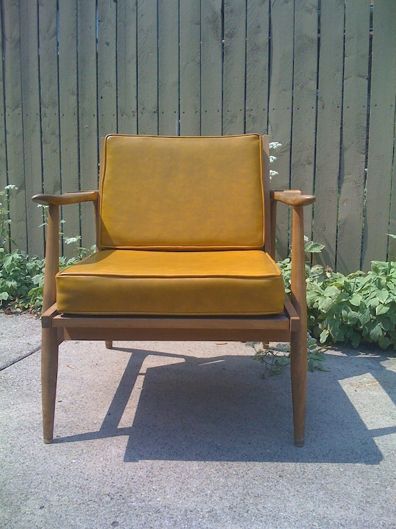 Vintage mid century lounge chair, upholstery service available
