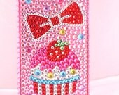 Cute Cupcake Bling Case (back cover) for iPhone4
