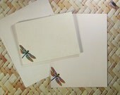 Dragonfly Writing Paper Stationery Printable File Set